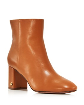 475a2bd5c77 Tory Burch - Women s Brooke Round Toe Leather Booties ...