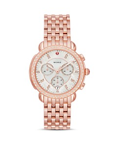 MICHELE - Sidney Rose Gold-Tone Diamond Chronograph, 38mm