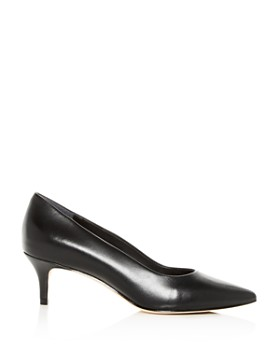 Joan Oloff - Women's Callie Leather Kitten-Heel Pumps
