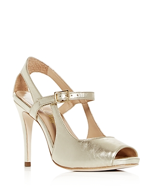 8162a3bb05a Women'S Gigi Leather Mary Jane High-Heel Sandals in Gold