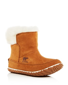 Sorel - Women's Out N About Faux-Fur Waterproof Cold-Weather Booties