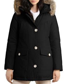 WOOLRICH JOHN RICH & BROS - Arctic High Collar Fur Trim Down Parka