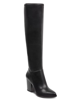 Marc Fisher LTD. - Women's Anata Round Toe Tall Leather High-Heel Boots
