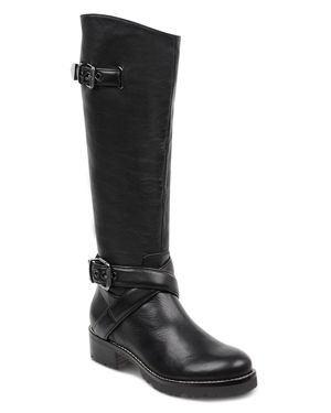 MARC FISHER LTD. Marc Fisher Women'S Round Toe Tall Motorcycle Boots in Black