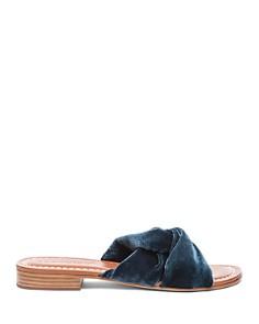 Bernardo - Women's Tiffany Knotted Velvet Slide Sandals