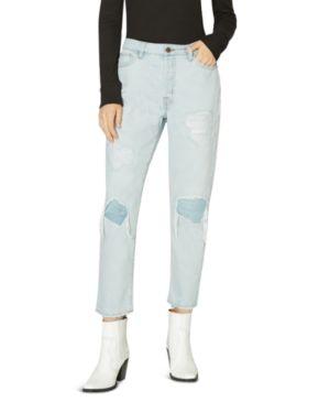 Sanctuary Alt Distressed Straight Crop Jeans in Blue 3130677