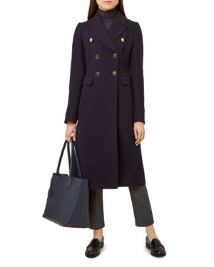 Gigi Double-Breasted Coat in French Navy