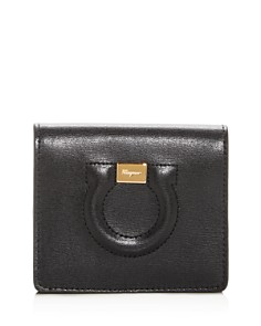 Salvatore Ferragamo - Gancio City Leather Bi-Fold Card Case