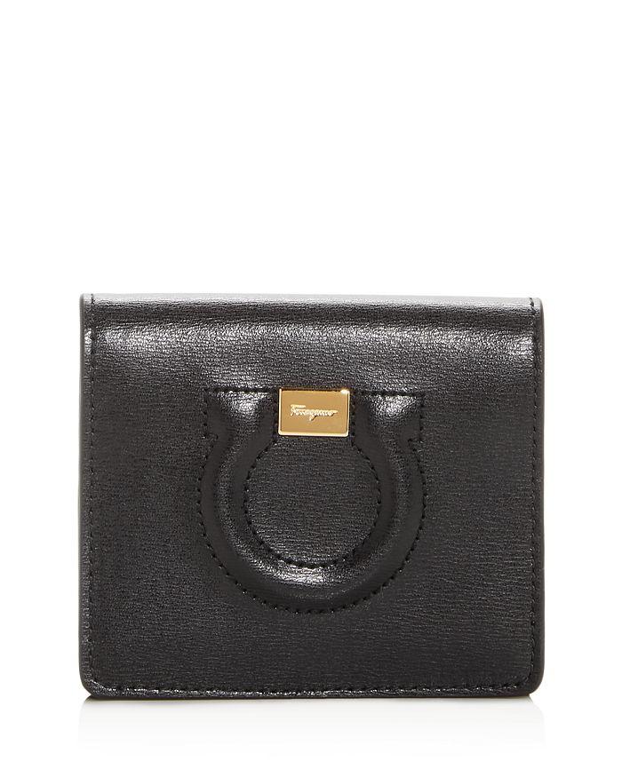 Salvatore Ferragamo Gancini City Leather Bi-Fold Card Case ... 95cf4526e54d2
