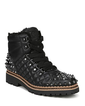 9b6a0bd090c Sam Edelman - Women s Bren Quilted Studded Hiking Boots ...