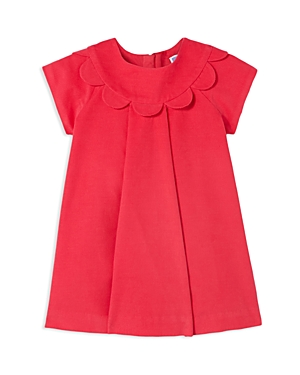 Jacadi Girls Scalloped Corduroy Dress  Baby
