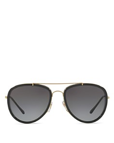 Burberry - Mirrored Check Aviator Sunglasses, 58mm