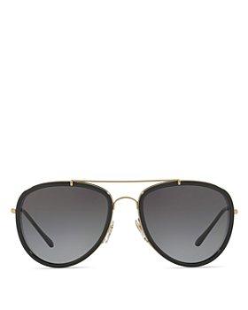 Burberry - Mirrored Check Aviator Sunglasses, 58mm