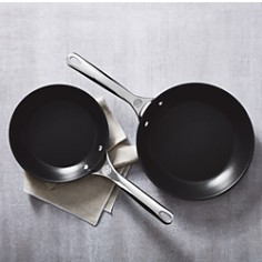 Le Creuset - 2-Piece Nonstick Stainless Steel Fry Pan Set