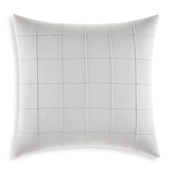 "Vera Wang - Shibori Grid Decorative Pillow, 18"" x 18"""