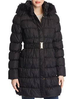 Via Spiga - Pillow Collar Ruched Puffer Coat