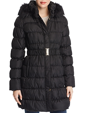 Via Spiga Pillow Collar Ruched Puffer Coat-Women