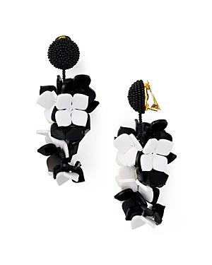 Oscar de la Renta Falling Flower Clip-On Earrings