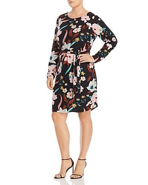 Junarose Plus Zeenan Long-Sleeve Floral-Print Dress