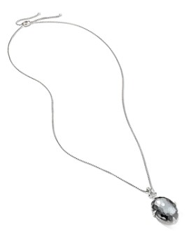 David Yurman - Sterling Silver Chatelaine Gray Orchid Pendant Necklace with Diamonds