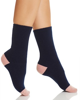 C by Bloomingdale's - Cashmere Stretch Cap Toe Socks - 100% Exclusive
