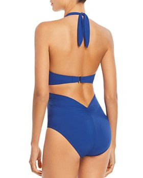 kate spade new york - Knotted Halter One Piece Swimsuit