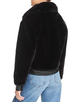BLANKNYC - Faux Fur & Faux Leather Coat