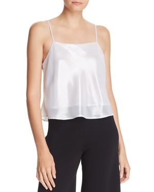 LUCY PARIS Cropped Metallic Camisole - 100% Exclusive in Silver