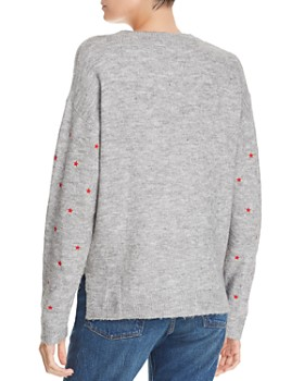 AQUA - Star Embroidered Sweater - 100% Exclusive