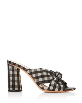 Loeffler Randall - Women's Coco Gingham Print High-Heeled Sandals