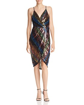 JOA - Striped Sequined Dress