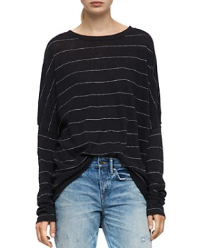 ALLSAINTS - Wave Cutout Striped Tee