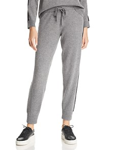 Minnie Rose - Lace-Trimmed Cashmere Jogger Pants - 100% Exclusive