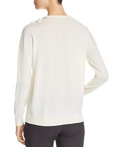 Elie Tahari - Lael Embellished Merino Wool Sweater