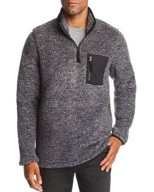 PACIFIC & PARK Mixed-Media Pullover Sherpa Jacket - 100% Exclusive in Gray/Black