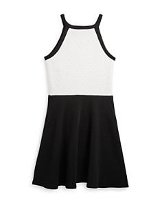 AQUA - Girls' Color-Blocked Lace Dress, Big Kid - 100% Exclusive