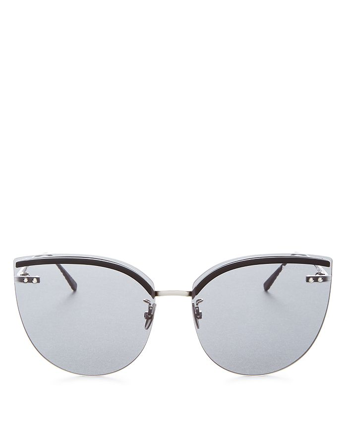 Bottega Veneta - Women's Rimless Cat Eye Sunglasses, 62mm