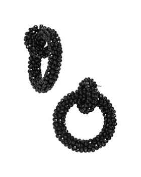 BAUBLEBAR - Beaded Link Hoop Earrings
