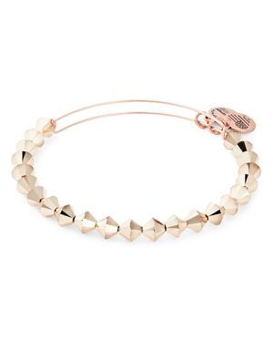 ALEX AND ANI Color Palette Adjustable Wire Bangle in Rose Gold