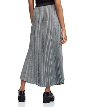 Maje - Jazia Checked Pleated Midi Skirt