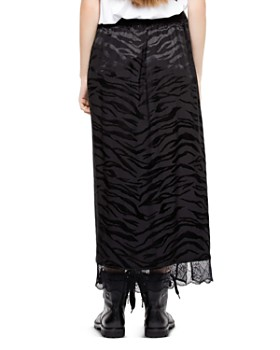 Zadig & Voltaire - Jillian Tiger Silk Jacquard Skirt