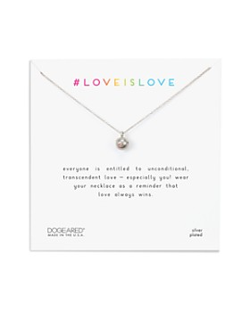 """Dogeared - Love Is Love Necklace in Sterling Silver, 16"""""""