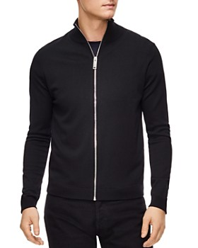 Sandro - Zip-Front Wool Cardigan Sweater