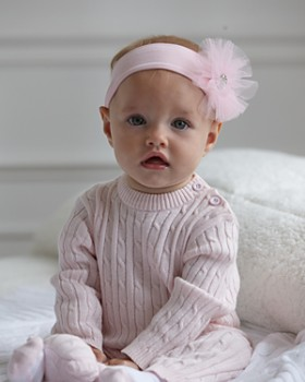 Elegant Baby - Girls' Cable-Knit Romper - Baby