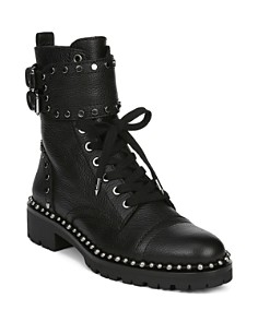 Sam Edelman - Women's Jennifer Studded Leather Combat Booties