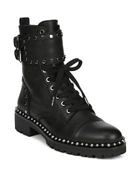 Sam Edelman - Women's Jennifer Studded Leather Combat Booties