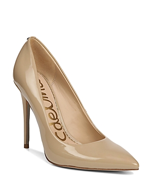 New Sam Edelman Women'S Danna Pointed Toe High-Heel Pumps, Pumps, Nude Patent Leather