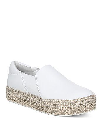 Vince - Women's Wilden Leather Espadrille Platform Sneakers