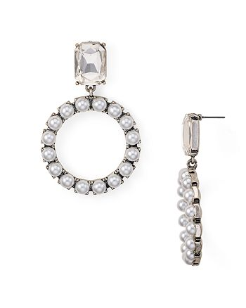 AQUA - Crystal Circle Drop Earrings - 100% Exclusive