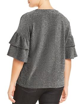 MICHAEL Michael Kors Plus - Metallic Bell Sleeve Top